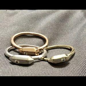 Kendra Scott Tri-color stackable ring set